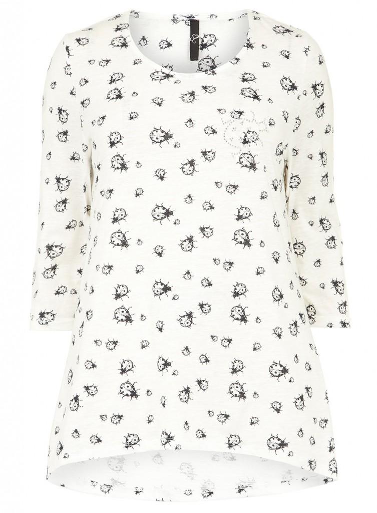 Evans Ivory Ladybird Top     Price: £23.00 click to visit Evans