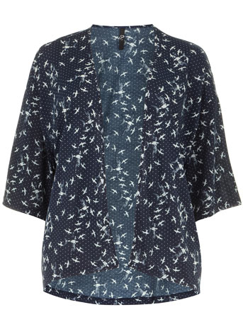 Evans Blue Bird Print Cover Up     Price: £25.00 click to visit Evans
