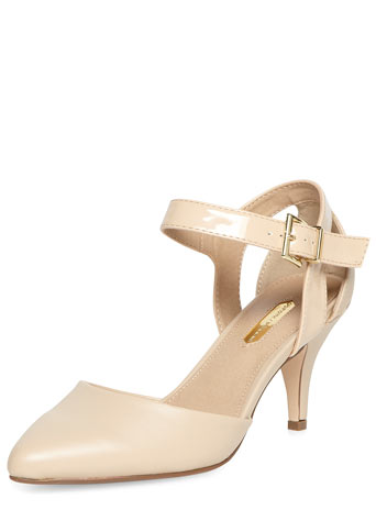 Nude 2-part pointed court Shoes     Was £27.00     Now £21.60 click to visit Dorothy Perkins