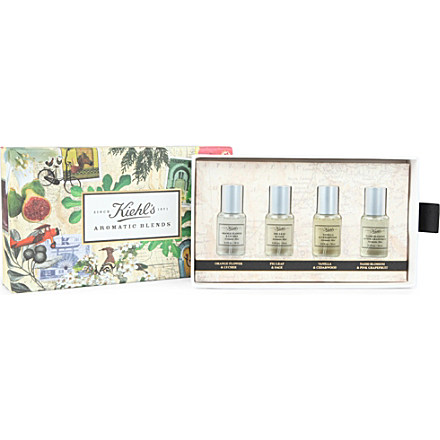 KIEHL'S Aromatic Blends Mist collection £30 click to visit Selfridges