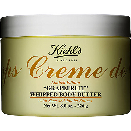 KIEHL'S Limited Edition Crème de Corps grapefruit-scented whipped body butter 226g £36 click to visit Kiehls