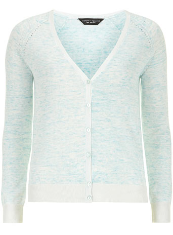 Mint marl v neck cardigan     Was £18.00     Now £12.60 click to visit Dorothy Perkins