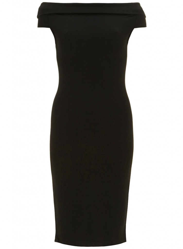 Black Sleeveless Bardot Dress     Price: £27.99 click to visit Dorothy Perkins