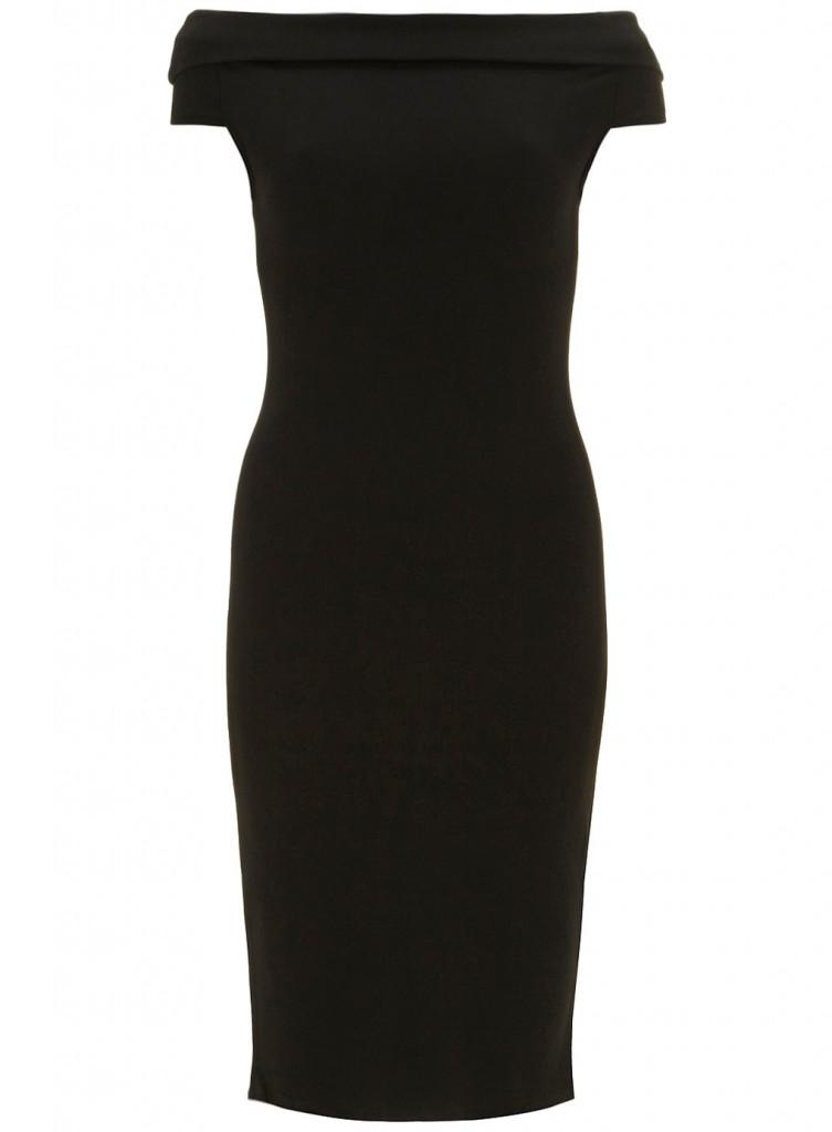 Black Sleeveless Bardot Dress     Price: £27.99 click to visit Dorothy Perkins