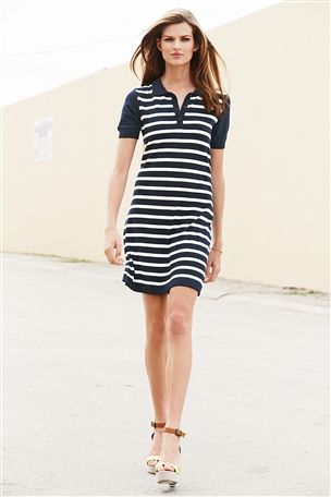 Stripe Polo Dress £28 click to visit Next