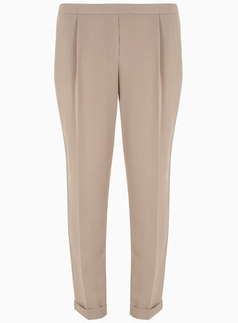 Stone Crepe Peg Trouser     Was £22.00     Now £17.60 click to visit Dorothy Perkins