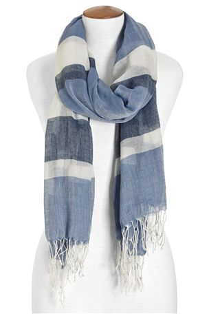 Blue Stripe Scarf £14 click to visit Next
