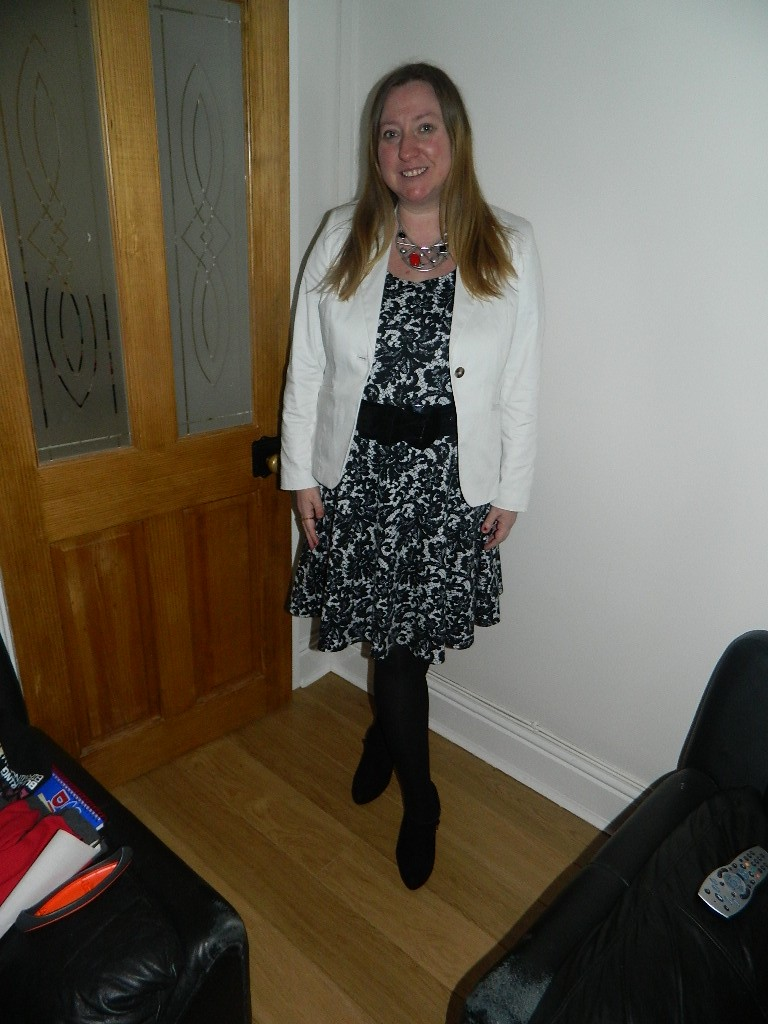 Dress South Necklace Nelly Boots F&F Belt Evans