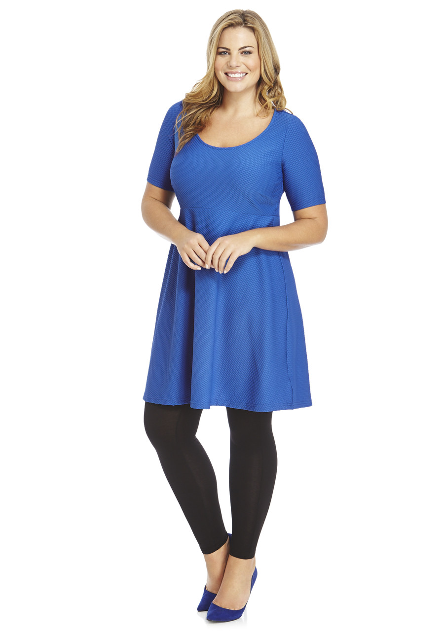 Blue skater dress plus size