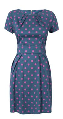 Closet Polka Dot Tie Back Dress Product code: D1401004C £45.00 click to visit Closet Clothing