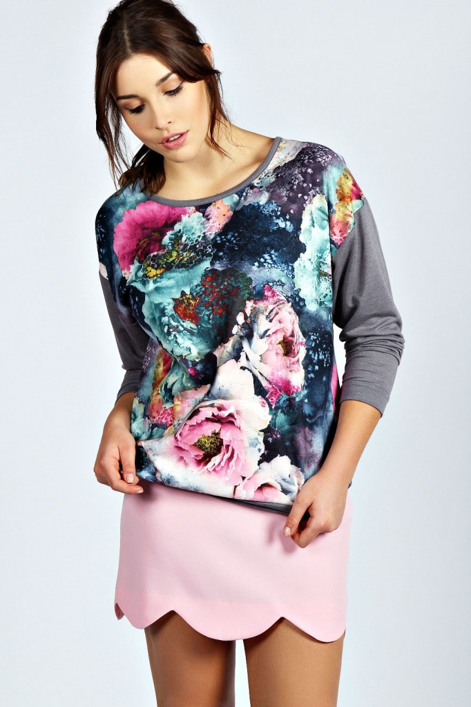 Nicky Floral Sweatshirt Product code: pzz99879 £18.00 click to visit Boohoo