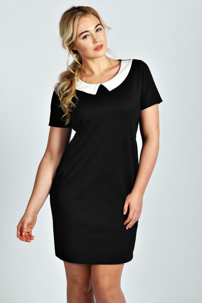 Lilly Peter Pan Contrast Collar Dress Product code: pzz99891 £20.00  click to visit Boohoo