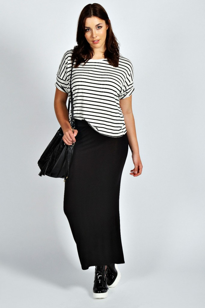 Alice Plain Maxi Skirt Product code: pzz99904 £12.00 click to visit Boohoo
