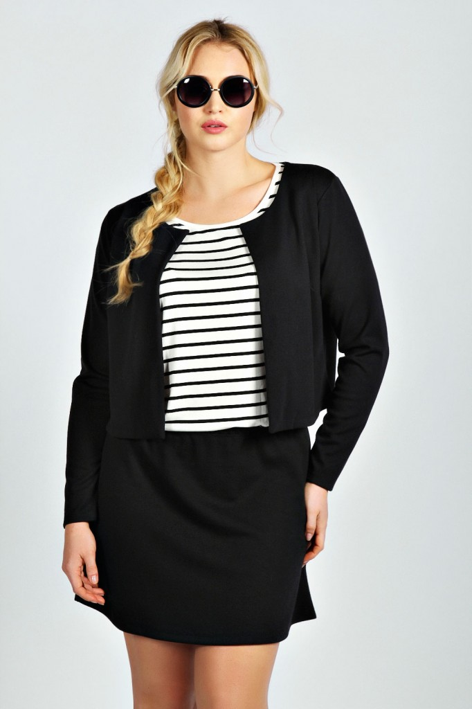 Kerry Boxy Crop Jacquard Jacket Product code: pzz99907 £16.00 click to visit Boohoo