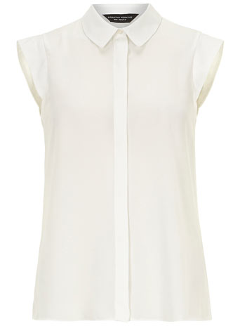 White sleeveless Shirt     Price: £18.00 click to visit Dorothy Perkins