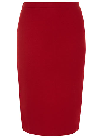 Cherry ponte pencil skirt     Was £16.00     Now £11.20 click to visit Dorothy Perkins