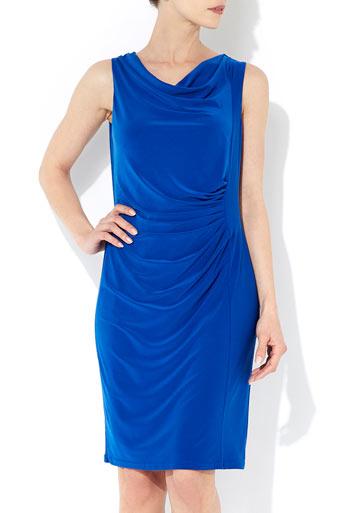 Cobalt Blue Cowl Dress     Price: £40.00 click to visit Wallis