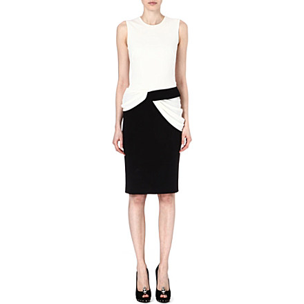 ALEXANDER MCQUEEN Two-tone dress £1,265 click to visit Selfridges