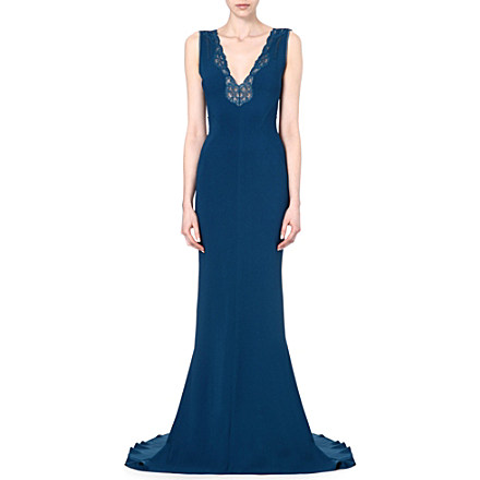 STELLA MCCARTNEY Lace-detailed crepe gown £2,395 click to visit Selfridges