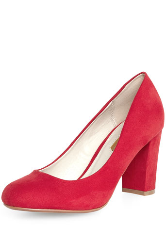Red high block heel court Shoes     Price: £29.00 click to visit Dorothy Perkiins