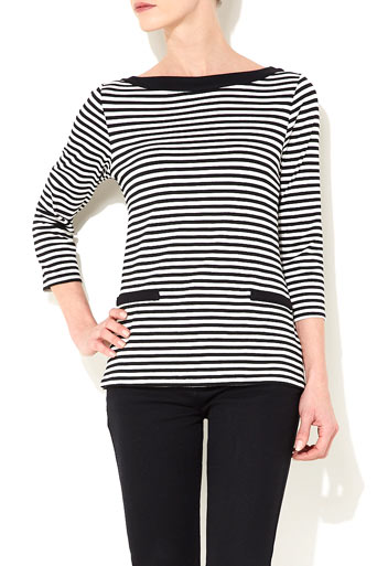 Black And White Stripe Top     Was £25.00     Now £20.00 click to visit Wallis