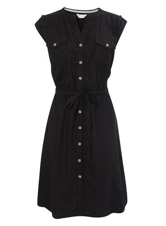 Black Short Sleeve Shirt Dress     Price: £26.00 click to visit BHS