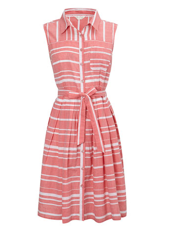 Coral Stripe Cotton Sun Dress     Price: £26.00 click to visit BHS