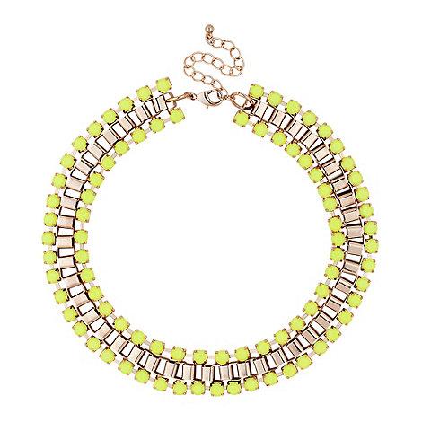 Lime green stone collar necklace £10 click to visit Debenhams