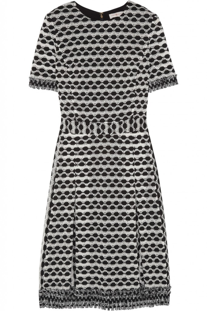 Tory Burch Paulina open-knit dress £390 click to visit Net-A-Porter