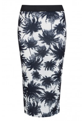 White Palm Tree Midi Skirt £8 click to visit Select