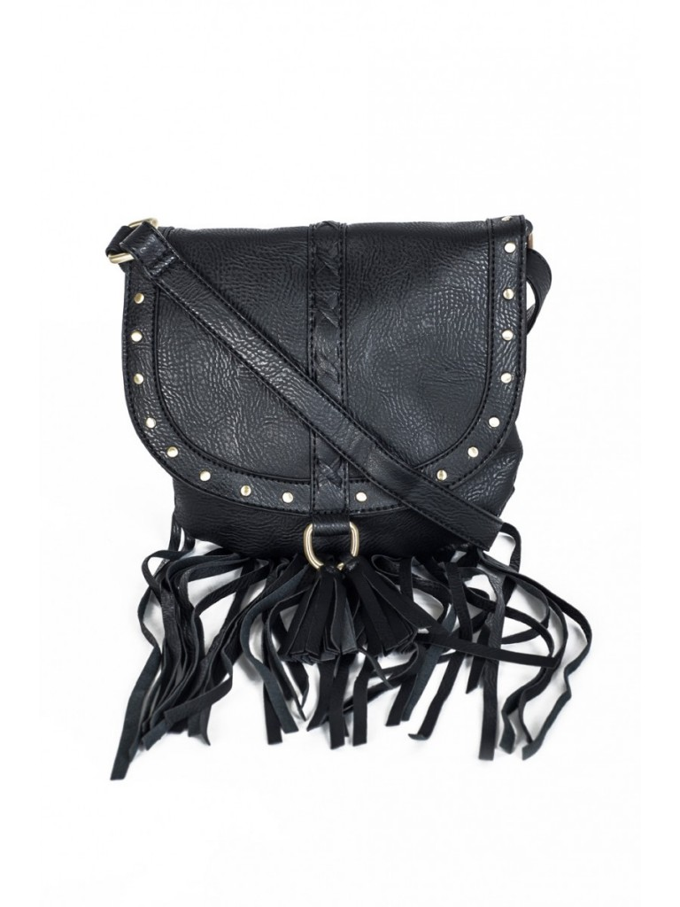 Black Fringed Double Tassel X Body Bag £12 click to visit Select