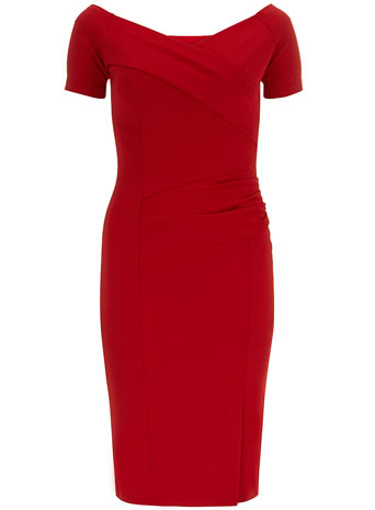 Red Off Shoulder Dress     Price: £30.00 click to visit Dorothy Perkins