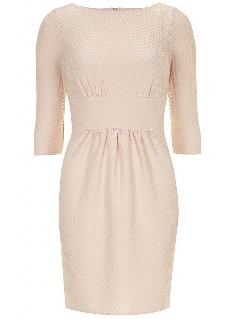 Pale Pink 3/4 Sleeve Dress     Was £45.00     Now £40.50 click to visit Dorothy Perkins