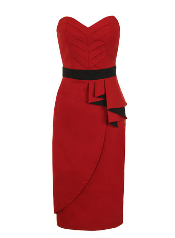 Red pleated peplum dress     Price: £57.00 click to visit Dorothy Perkins