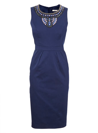 Navy Embellished Shift Dress     Price: £49.00 click to visit BHS