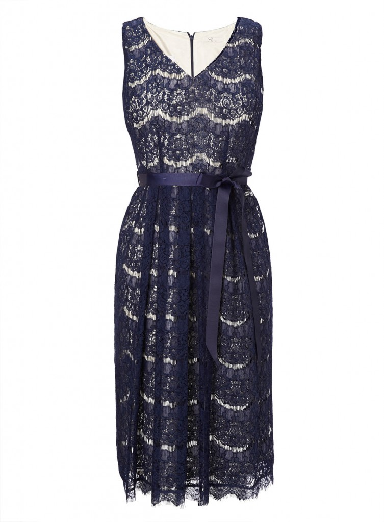 Navy Scalloped Lace Dress     Price: £45.00 Click to visit BHS