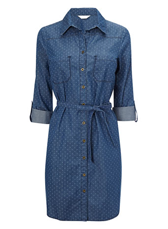 Printed Denim Shirt Dress     Price: £28.00 click to visit BHS