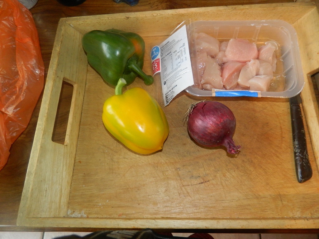 Ingredients for the mild rice dish.