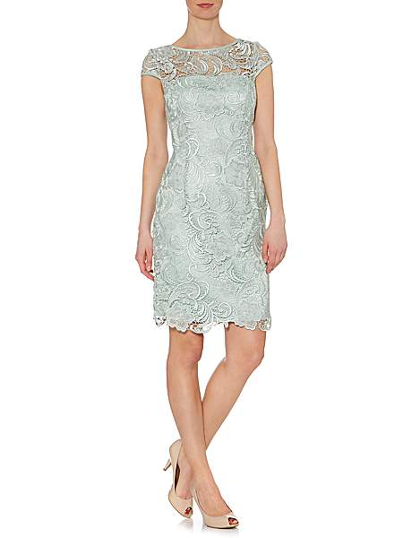 Adrianna Papell Cap Sleeve Grupere Lace £170 click to visit House of Fraser
