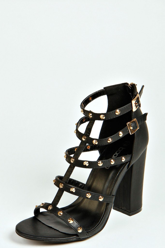 Ivy Stud Trim Strappy Block Heels Product code: azz39312 From £20.00 click to visit Boohoo