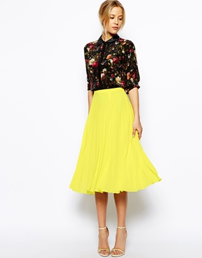 ASOS Pleated Midi Skirt £35  click to visit ASOS