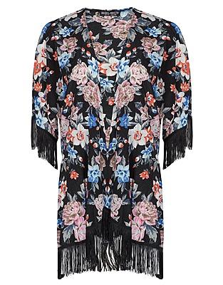 Black Boudoir Floral Kimono £16 click to visit Select