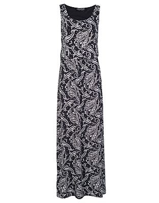 Black Mono Paisley Blouson Maxi Dress £16 click to visit Select
