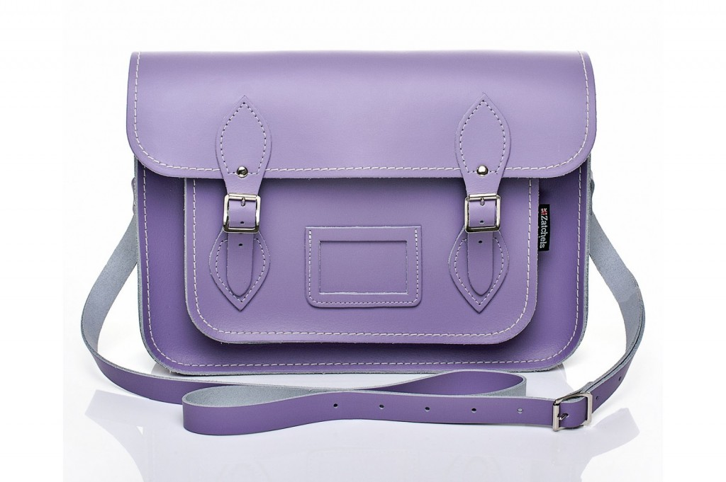 Pastel Violet Leather Satchel from £86 click to visit Zatchels