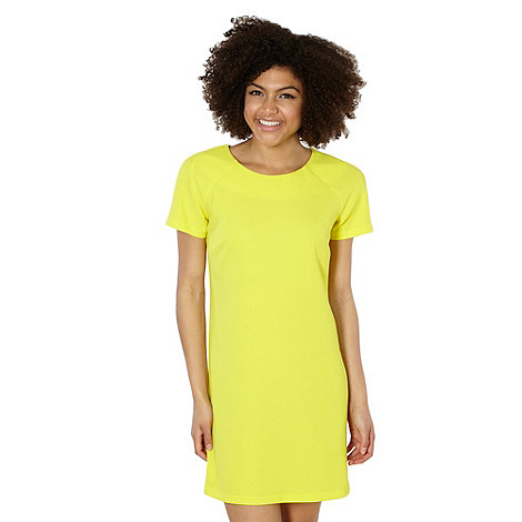 Yellow crepe shift dress £22.40 click to visit Debenhams