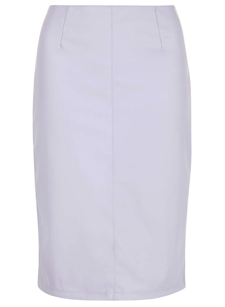 Lilac PU Pencil Skirt     Price: £26.00 click to visit Dorothy Perkins