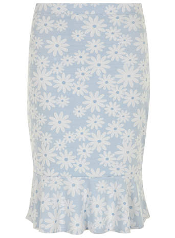 Blue Daisy Pephem Pencil Skirt     Price: £20.00 click to visit Dorothy Perkins