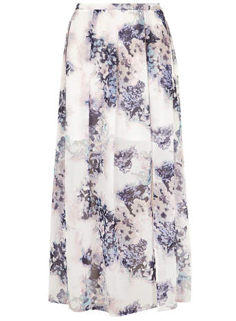 Blue Floral Georgette Maxi Skirt     Price: £28.00 click to visit Dorothy Perkins