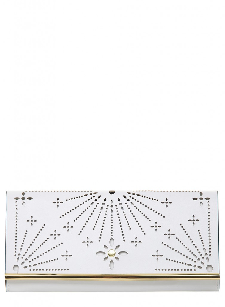 White Perforated Cut Out Clutch     Price: £15.00 click to visit Dorothy Perkins