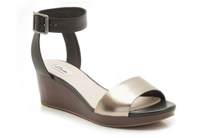 Ornate Jewel 4 (13 reviews) Black Combi Leather Womens Casual Sandals Now £39.99 click to visit Clarks